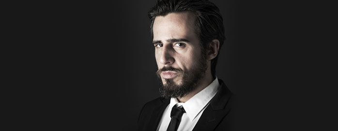 Man's portrait for dark circles treatment for men.