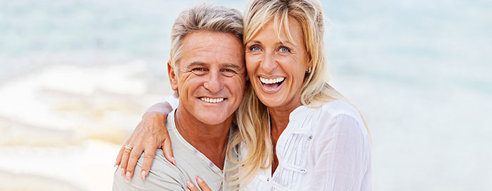Happy couple after the man's testosterone replacement therapy.