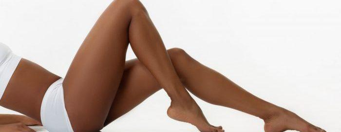 Dark Skin Female Legs