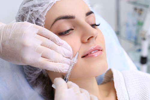 Botox injection on a woman at Harley Street Medical Doctors.