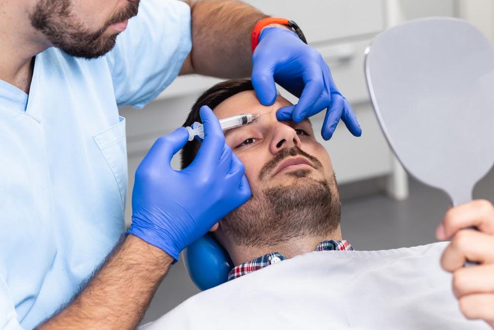 Man getting botox in London.