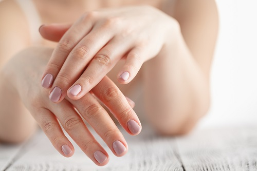 Young-looking hands after hand rejuvenation procedure.