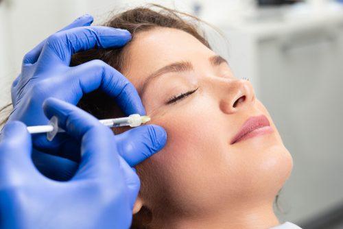 Woman Having Dermal Filler Injections