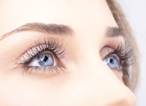 A close up of a pair of rejuvenated and fresh looking eyes.