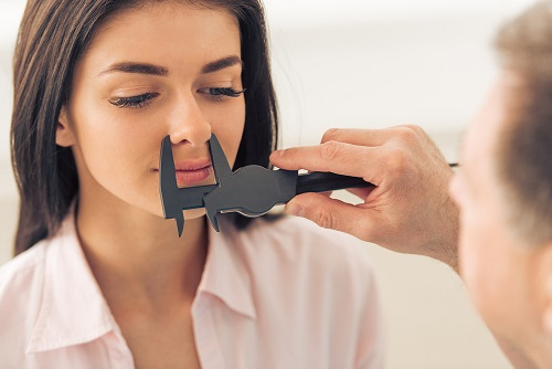 Woman Preparing for Nose Surgery